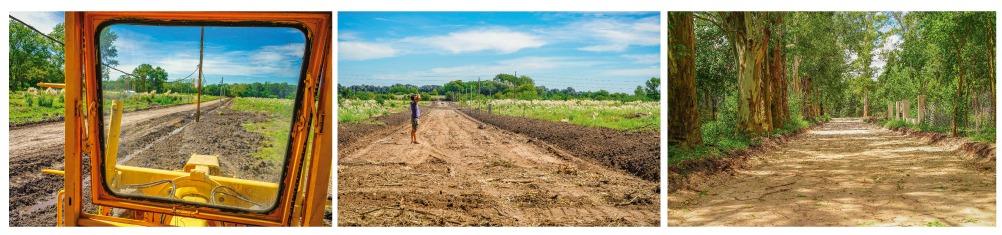 Obras viales en Barrio Verde Las Moras Hermanar